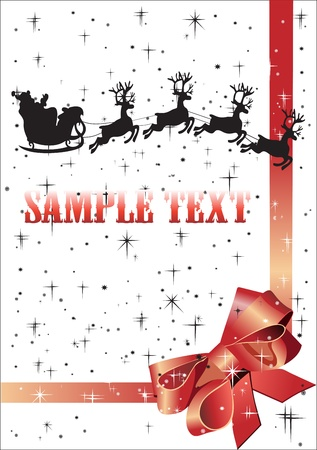 Christmas background with reindeer and Santa Claus Stock Vector - 15993210