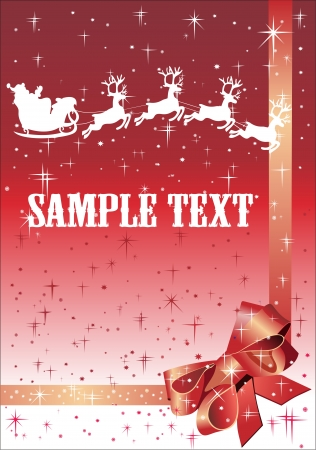 Christmas background with reindeer and Santa Claus Stock Vector - 15993211