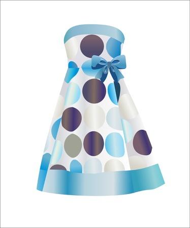 abito elegante: vestito elegante isolato su sfondo bianco Vettoriali