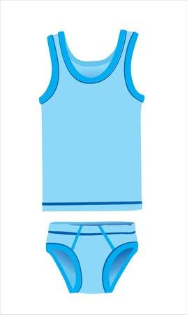blue underwear set for boy