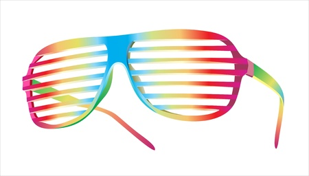 fashion bril: vector Shutter Shades zonnebril Stock Illustratie