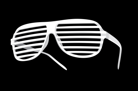 vector shutter shades sun glasses Vector