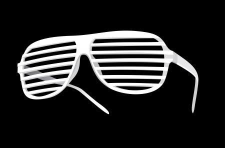 vector shutter shades sun glasses Stock Vector - 15993125