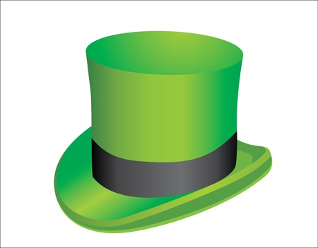 illustration, green St  Patrick s Day hat Stock Vector - 15993094