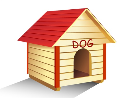 dog kennel: Dog s kennel Illustration