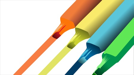 varied: Vector multi-colored markers Illustration