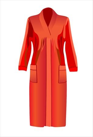 bathrobe: bathrobe isolated on white background