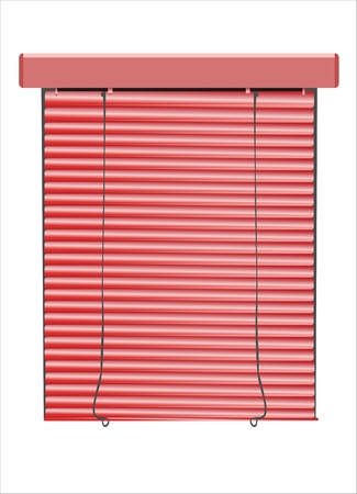 window coverings: A venetian blinds  vector illustration