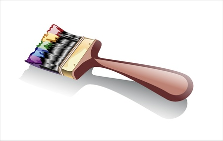 redecorate: Paint brush on a white background