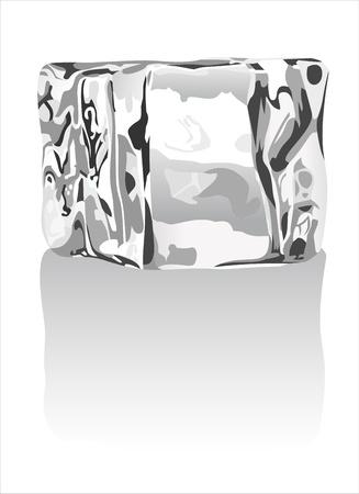 refrigerate: cubos de hielo en blanco