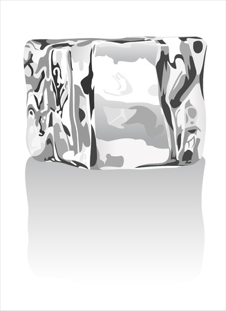 ice cubes on white Stock Vector - 15993577