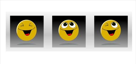 optimist: Set of characters of yellow