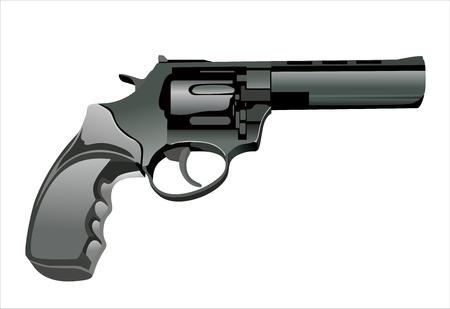 group of objects: Close-up van een airsoft gun geïsoleerd op een witte achtergrond