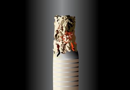 smouldering cigarette: Smoldering cigarette  Vector