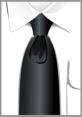 neckcloth: tie backgound vector Illustration