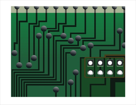 circuit board with electronic Stock Vector - 15993565
