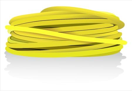 yellow coaxial cable Stock Vector - 15993443