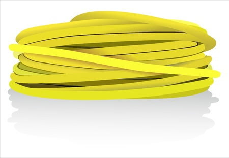 disordered: yellow coaxial cable Illustration
