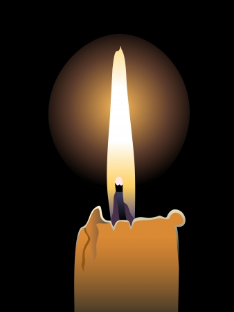 flickering: Flame of burning candle in the dark