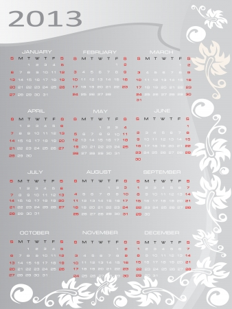 Vector calendar for 2013 Stock Vector - 15995302