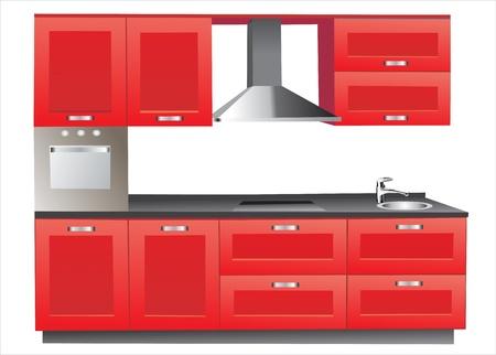 showcase interior: Cucina moderna Vettoriali