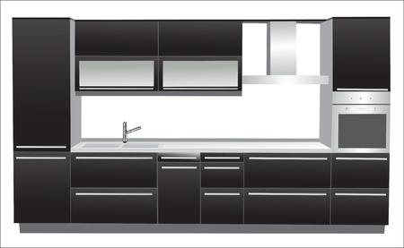 Modern kitchen Stock Vector - 15995245