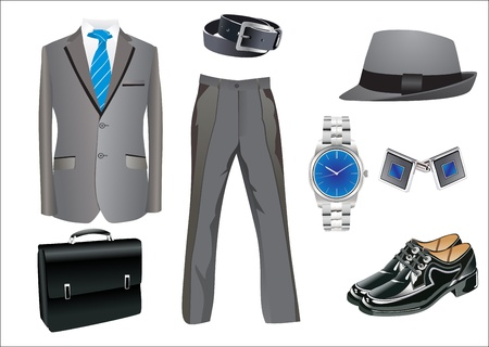 men s clothing collection Vector