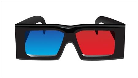 3d glasses Stock Vector - 15993630