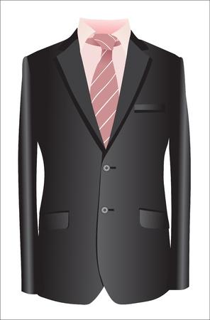 jasje en stropdas op een witte achtergrond