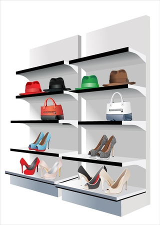 merchandising: Fashion store  Vector set