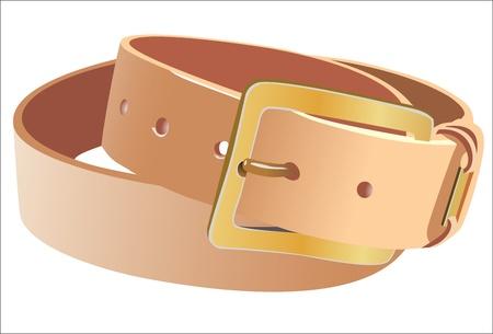 waistband: leather belt.