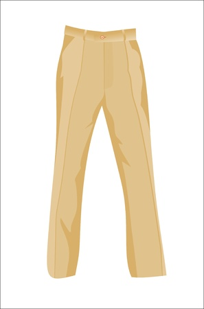 white pants: brown trousers pants Illustration