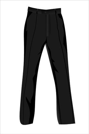 black trousers Ilustração Vetorial