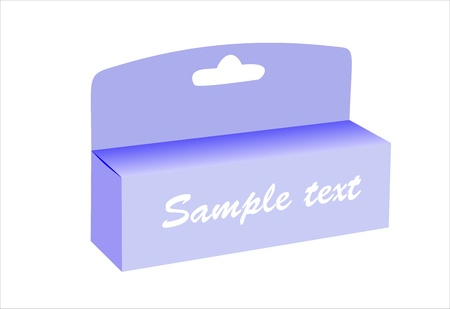 blank retail box with hang slot. Stock Vector - 15993652
