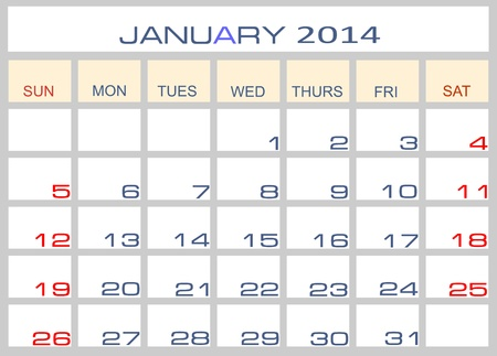 datebook: Calendar January 2014