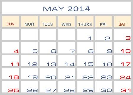 datebook: Calendar May 2014