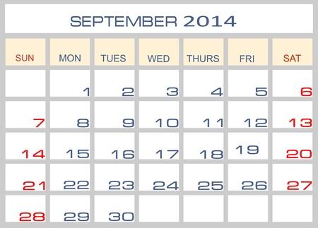 datebook: Calendar September 2014