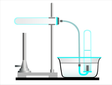 bung: A laboratory setup with a retort, retort stand