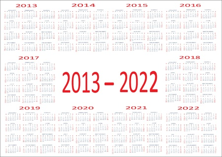 2013 And 2014 And 2019 Calendar New Year 2013, 2014, 2015, 2016, 2017, 2018, 2019, 2020, 2021