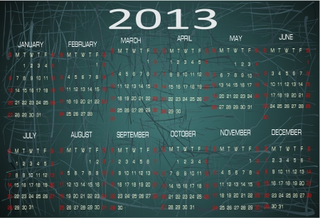Vector calendar for 2013 Vector