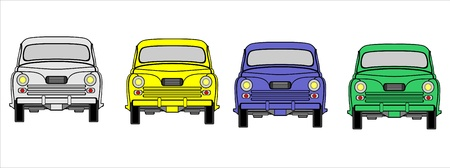 Illustration of a Car set Vector