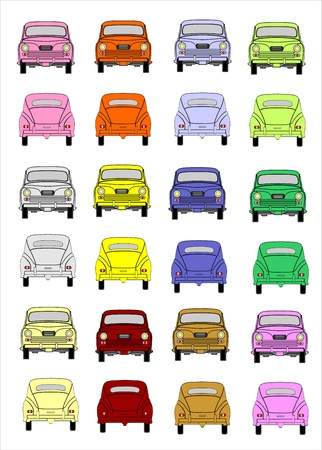 Illustration of a Car set Stock Vector - 15995308