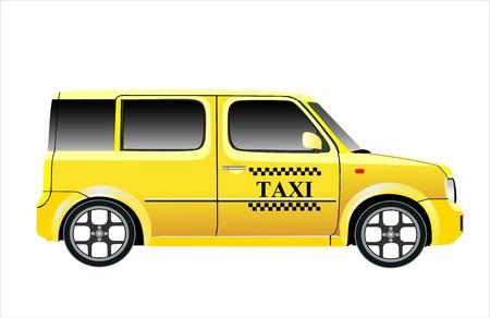 coche de taxi ilustración vectorial aislados en fondo blanco Ilustración de vector