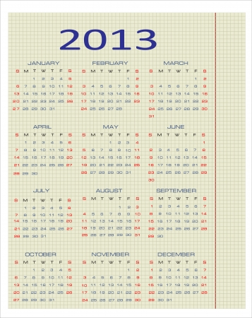 calendar for 2013 Stock Vector - 16084736
