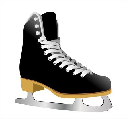figure skate: imagen de la figura pat�n. Aislado sobre fondo blanco