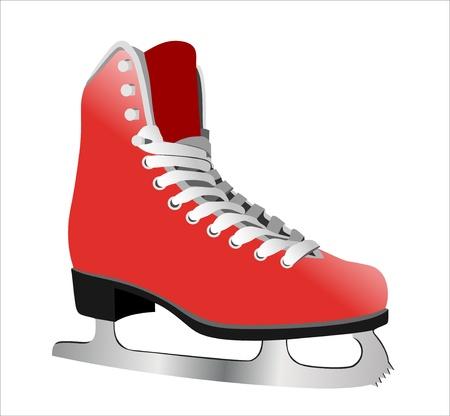 Bild figure skate. Isoliert auf weißem Hintergrund