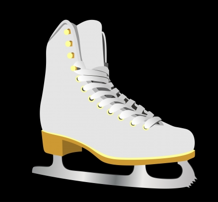image of figure skate.  Vector