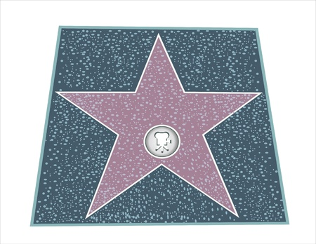 Walk Of Fame Type Star Stock Vector - 16084717