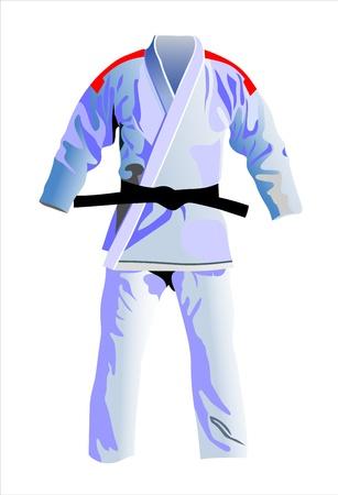 martial arts: kimono Illustration