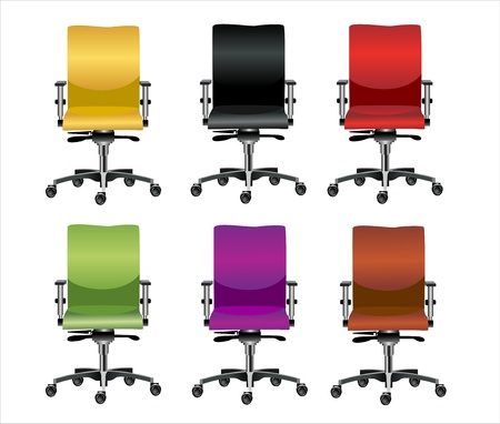 arm chair: Office chair set Illustration